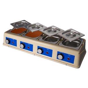 XXLselect Chocoladesmelter - 4 x 1,5 Liter - 4 x 1/6GN - 100mm