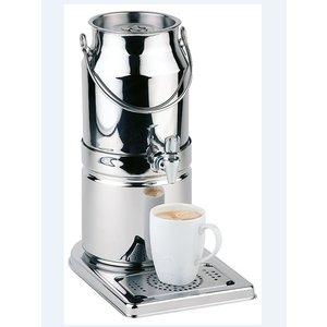 APS Milchspender Spiegelende | Originalmilchkanne | 3 Liter mit Ablassventil | 210x320x (h) 390 mm