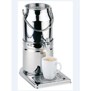 APS Milk dispenser mirror finish | Original Milk churn | 3 liters with drain valve | 210x320x (h) 390 mm