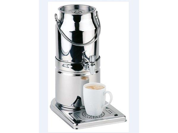 APS Melkdispenser Spiegel afwerking | Originele Melkbus | 3 Liter met Aftapkraan | 210x320x(h)390 mm