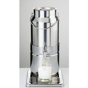 APS Melkdispenser Spiegel afwerking | Originele Melkbus | 5 Liter met Aftapkraan | 230x350x(h)450 mm