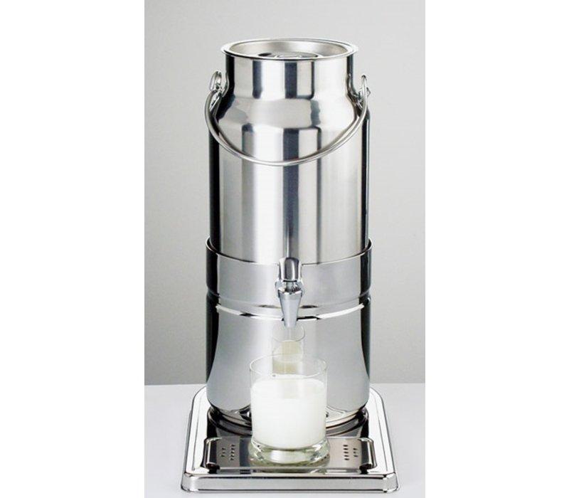 APS Milchspender Spiegelende | Originalmilchkanne | 5 l mit Ablassventil | 230x350x (h) 450 mm