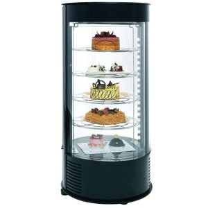 Neumarker Pastry Display Case Black 4 floors - Ø435x (h) 970 mm