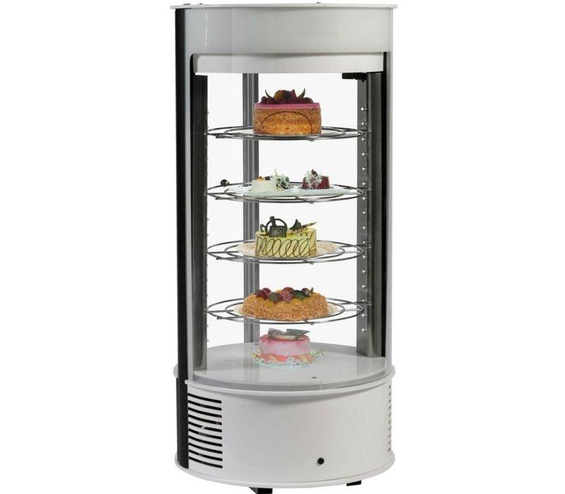 Neumarker Pastry Display Case White 4 floors - Ø435x (h) 970 mm