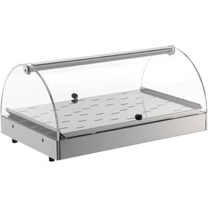 Neumarker Warming Showcase stainless steel - Opening on both Sides - 500x350x (h) 250 mm