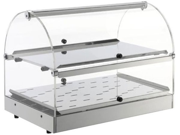 Neumarker Warming Showcase SS 2 Levels - Opening on both Sides - 500x350x (h) 380 mm