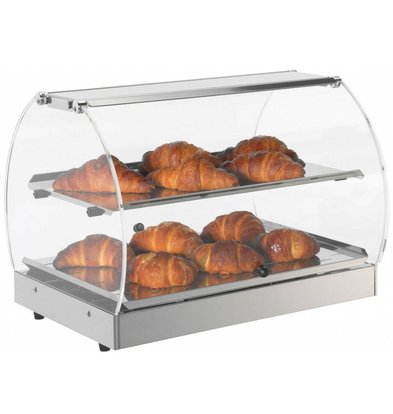 Neumarker Warming Showcase stainless steel - Opening on both Sides - 500x350x (h) 370 mm