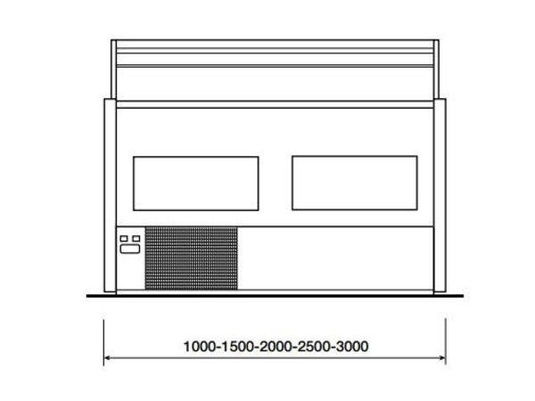 Diamond Verkaufsvitrine | Arbeitsplatte aus Granit | Gekühlt + 4 ° / + 6 ° | Rechten Fensterbereich | 2500x800x (H) 1220 mm