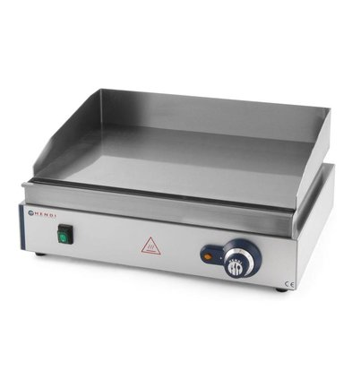 Hendi Griddle - smooth - Blue Line Hendi 203 149 - 55x38x (h) 24cm - 2,4kW