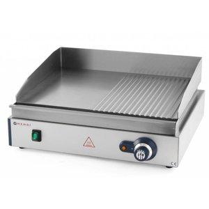 Hendi Baking tray - Smooth / Ribbed Blue Line Hendi 203 156 - 55x38x (h) 24cm - 2,4kW