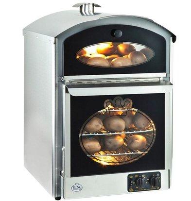 Neumarker Aardappel oven 60+60 Aardappelen - 510x580x(h)750mm - 230V/3KW