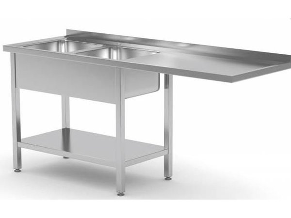 XXLselect Stainless Steel Sink for Dishwasher Tailor - Front Front loader or Dooschuifmachine Tailor - All kinds Sinks in every size