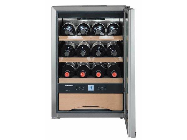 Liebherr Wine storage cabinet Stainless steel | 12 Bottles Wine and Cutlery / Chocolate La | Liebherr | 56 Liter | WKes 653 | 43x48x (h) 51cm