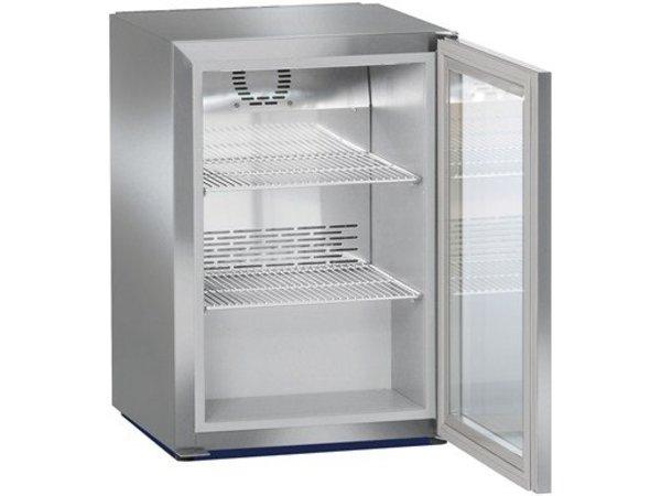 Liebherr Minibar Kühlschrank Edelstahl | Glastür | Liebherr | 45 Liter | FKv 503 | 43x45x (h) 61CM