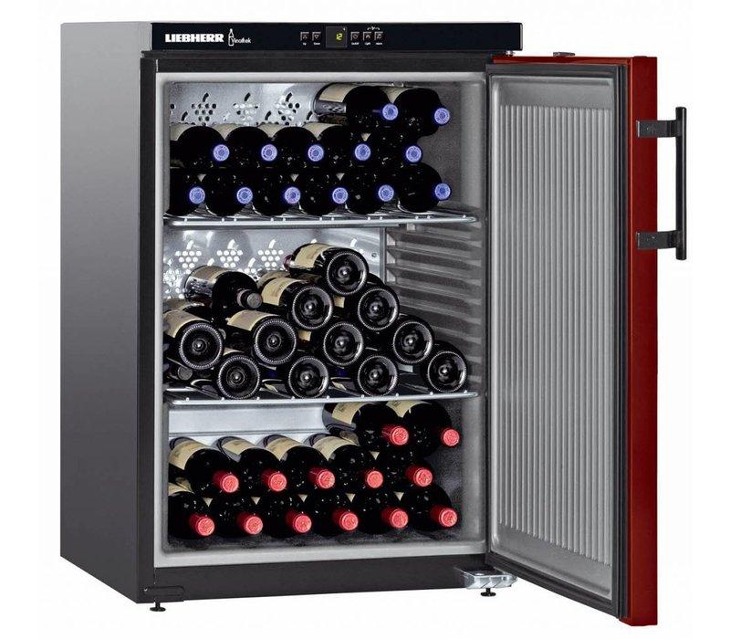 Liebherr Wein Kühlschrank Schwarz / Burgund - Close Tür | 66 Flaschen | Liebherr | 145 Liter | WKr 1811 | 60x61x (h) 89cm