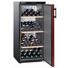 Liebherr Wijnkoelkast Zwart/Bordeaux Rood - Dichte Deur | 164 Flessen | Liebherr | 322 Liter | WKr 3211 | 60x74x(h)135cm
