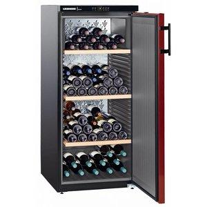 Liebherr Wein Kühlschrank Schwarz / Burgund - Close Tür | 164 Flaschen | Liebherr | 322 Liter | WKr 3211 | 60x74x (h) 135cm