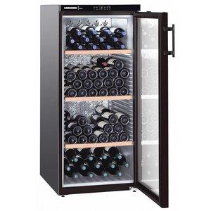 Liebherr Wijnbewaarkast Zwart   164 Flessen   Liebherr   336 Liter   WKb 3212   60x74x(h)135cm