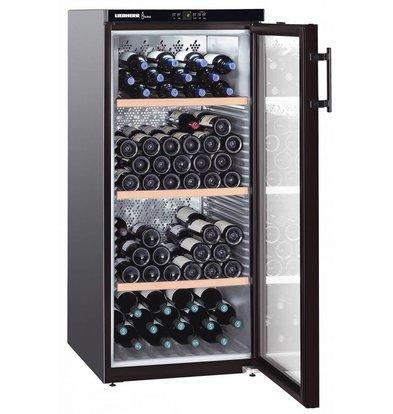 Liebherr Wijnbewaarkast Zwart | 164 Flessen | Liebherr | 336 Liter | WKb 3212 | 60x74x(h)135cm