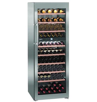 Liebherr Wijnklimaatkast RVS | 155 Flessen | Liebherr | 593 Liter | WTpes 5972 | 70x74x(h)192cm
