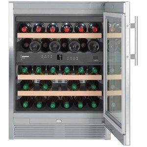Liebherr Wijnklimaatkast RVS | 34 Flessen | Liebherr | 123 Liter | WTes 1672 | 60x58x(h)82cm