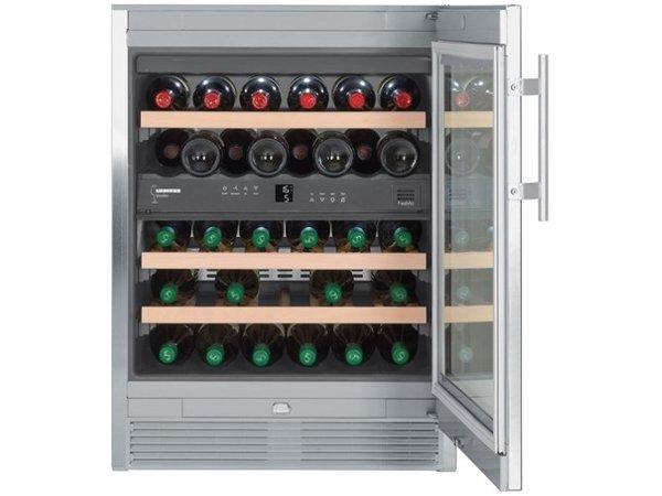 Liebherr Wijnklimaatkast RVS   34 Flessen   Liebherr   123 Liter   WTes 1672   60x58x(h)82cm