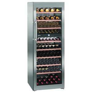Liebherr Wijnklimaatkast RVS | 211 Flessen | Liebherr | 593 Liter | WTes 5972 | 70x74x(h)192cm