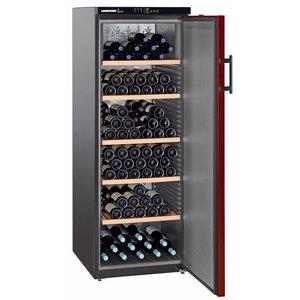 Liebherr Wine Fridge Black / Burgundy - Close Door | 200 Bottles | Liebherr | 427 Liter | WKr 4211 | 60x74x (h) 165cm