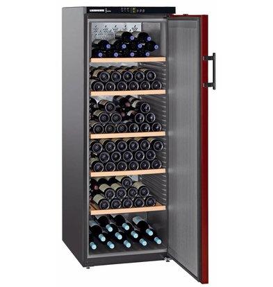 Liebherr Wein Kühlschrank Schwarz / Burgund - Close Tür | 200 Flaschen | Liebherr | 427 Liter | WKr 4211 | 60x74x (h) 165cm