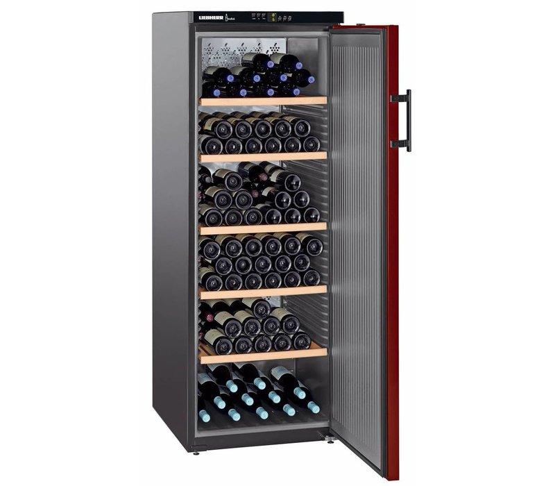 Liebherr Wine Fridge Black / Burgundy - Close Door   200 Bottles   Liebherr   427 Liter   WKr 4211   60x74x (h) 165cm