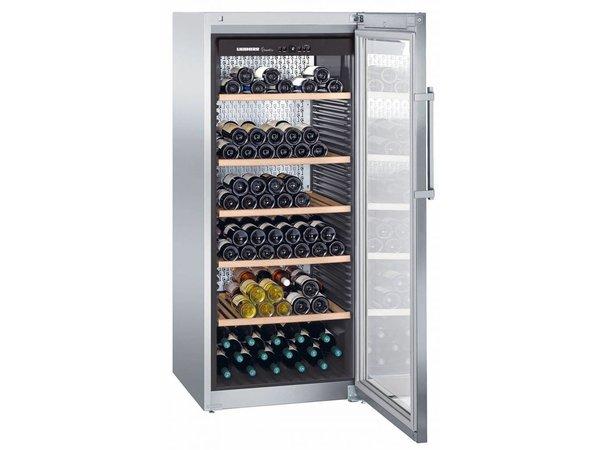 Liebherr Wijnklimaatkast RVS | 201 Flessen | Liebherr | 478 Liter | WKes 4552 | 70x74x(h)165cm