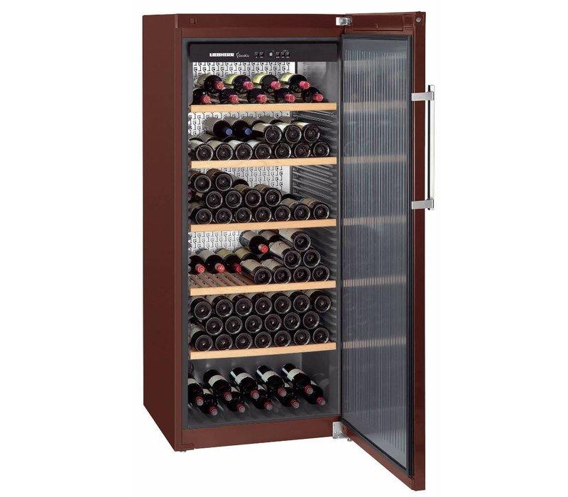 Liebherr Wijnbewaarkast Terrakleur - Dichte Deur | 201 Flessen | Liebherr | 456 Liter | WKt 4551 | 70x74x(h)165cm