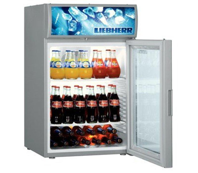 Liebherr Display-Kühlschrank mit Glastür Stahlgrau   Liebherr   417 ...