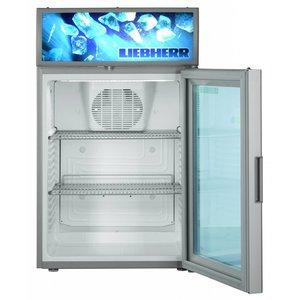 Liebherr Steel Grey display Refrigerator with Glass Door | Liebherr | 85 Liter | BCDv 3713 | 50x55x (h) 82cm
