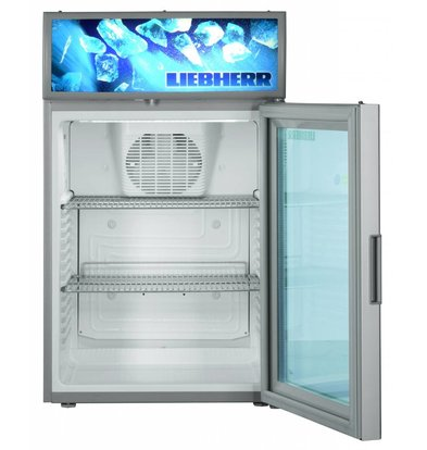Liebherr Display Fridge Steel Gray with Glass Door | Liebherr | 417 liters | BCDv 3713 | 50x55x (h) 82cm
