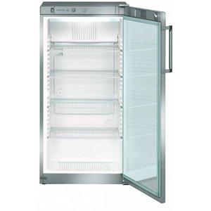 Liebherr Refrigerator Dynamic Steel Gray   Glass Door   Liebherr   250 Liter   FKvsl 2613   60x61x (h) 125cm