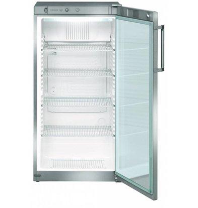 Liebherr Refrigerator Dynamic Steel Gray | Glass Door | Liebherr | 250 Liter | FKvsl 2613 | 60x61x (h) 125cm