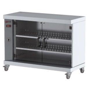 Diamond Showcase Warmer For 60 Chickens | On Wheels | 1200x500x900 (h) mm
