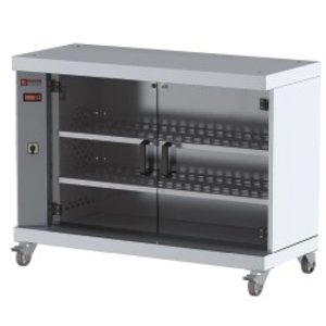 Diamond Vitrine Warmkast Voor 60 Kippen | Op Wielen | 1200x500x900(h)mm