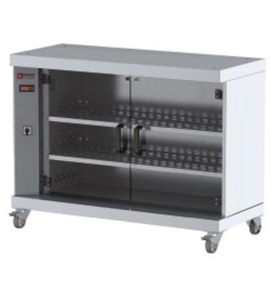 Diamond Showcase-Wärmer für 60 Hühner | On Wheels | 1200x500x900 (h) mm