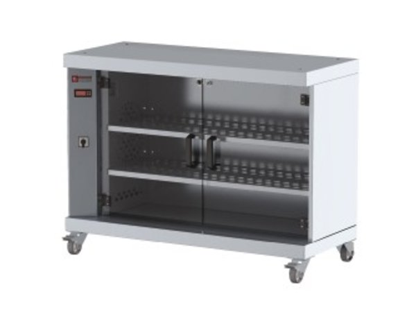 Diamond Showcase Warmer For 60 Chickens | On Wheels | 1200x500x900 (h) mm