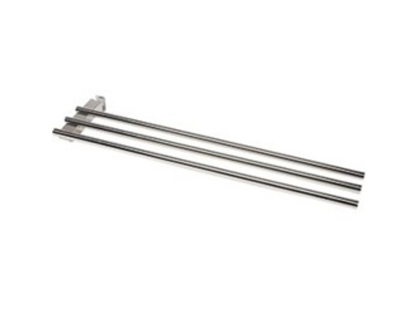 Diamond Stainless steel slide Trays | Corner element 45 ° | 1500x300mm