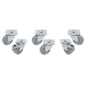 Diamond Kit 6 castors - two with brake