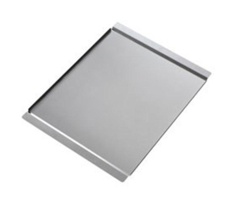 Diamond Glatte Edelstahlplatte | 600x400mm