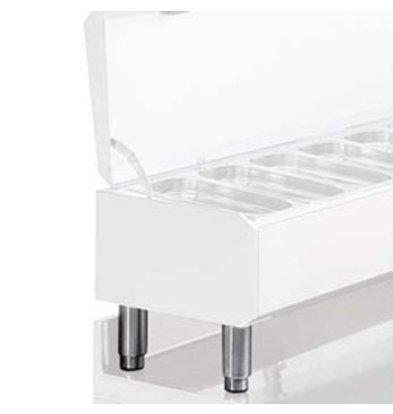 Diamond Kit 4 Tatzen für nichtrostenden Stählen 4.1 | einstellbar | 190 (H) mm