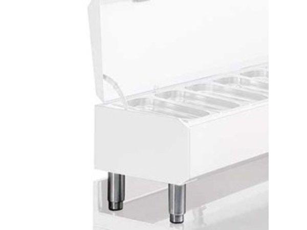 Diamond Kit 4 Poten RVS Voor Structuren 1/4 | Regelbaar | 190(h)mm