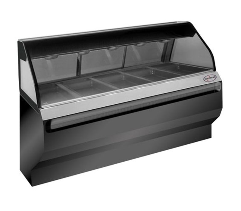 Alto Shaam Heated display case | Alto Shaam ED2SYS-72 Black | Self Service | 4,2kW | Net Gross 282kg and 317kg