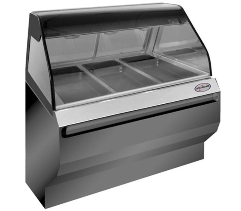 Alto Shaam Heated display case | Alto Shaam ED2SYS-48 Black | Self Service | 2,9W | Net Gross 204kg and 227kg