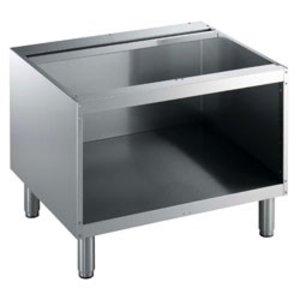 Diamond Open Onderstel RVS   800mm   Poten Regelbaar   800x550x600(h)mm