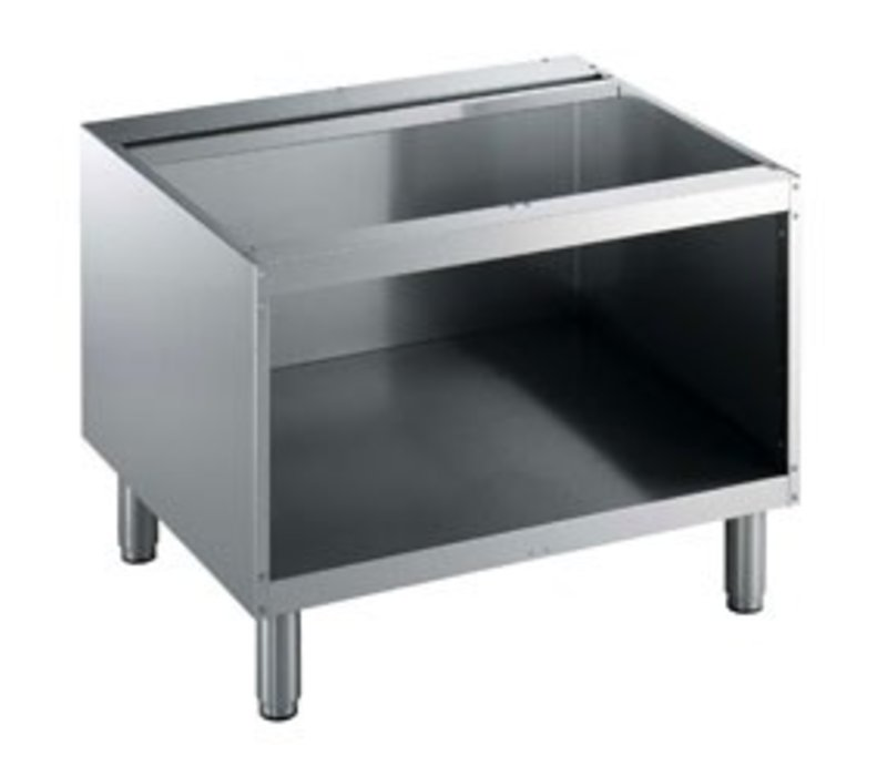 Diamond Open Onderstel RVS | 800mm | Poten Regelbaar | 800x550x600(h)mm